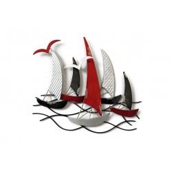 Sculpture SOC Régate Rouge/Noir/Argent