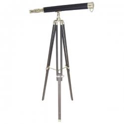 Longue vue trépied 160 cm (1,60 m - cuir)