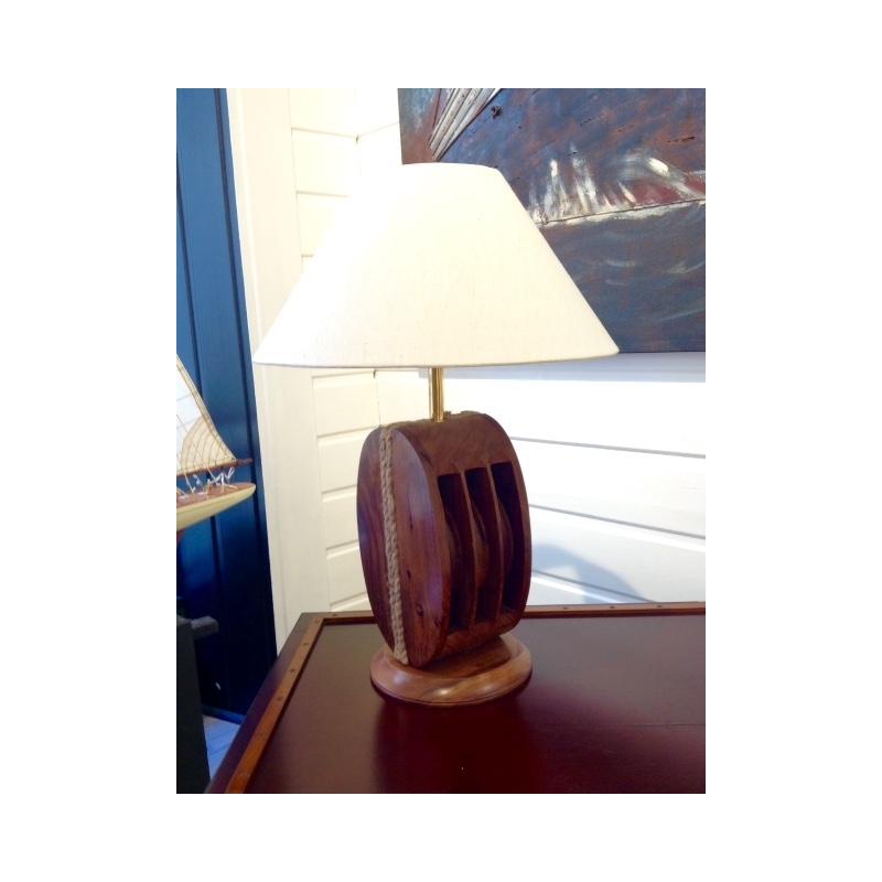 Lampe Poulie (gm - bois)