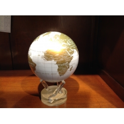 Globe MOVA (PM - Blanc et Or)