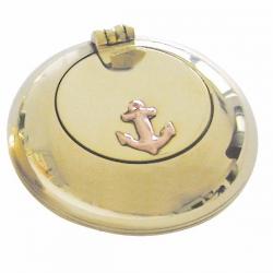 Cendrier de Poche (mm - laiton brillant - F-ancre)