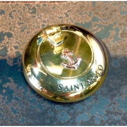Cendrier de Poche (MM - Laiton brillant - Saint Malo)
