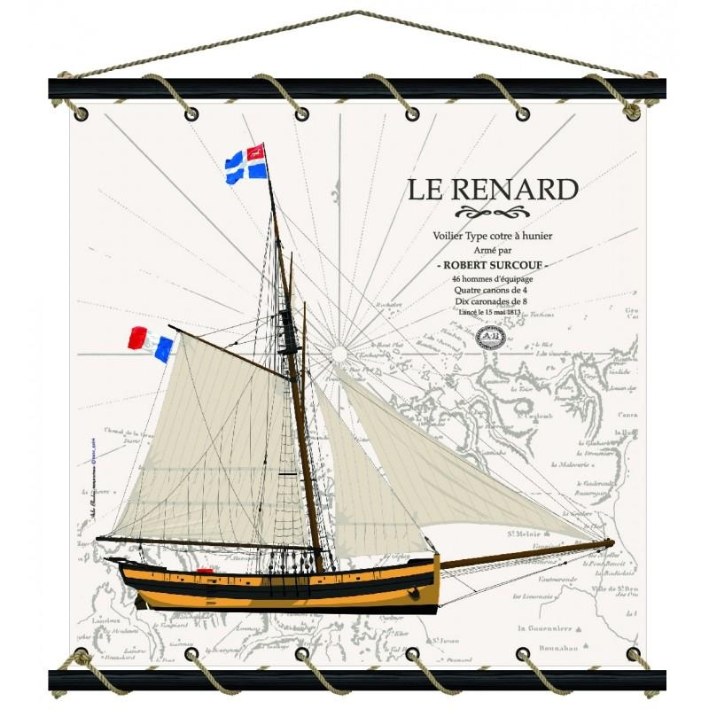 Le Renard carte marine 75 x 75