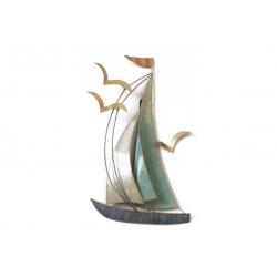 Sculpture SOC Voilier Bleu/Mouette