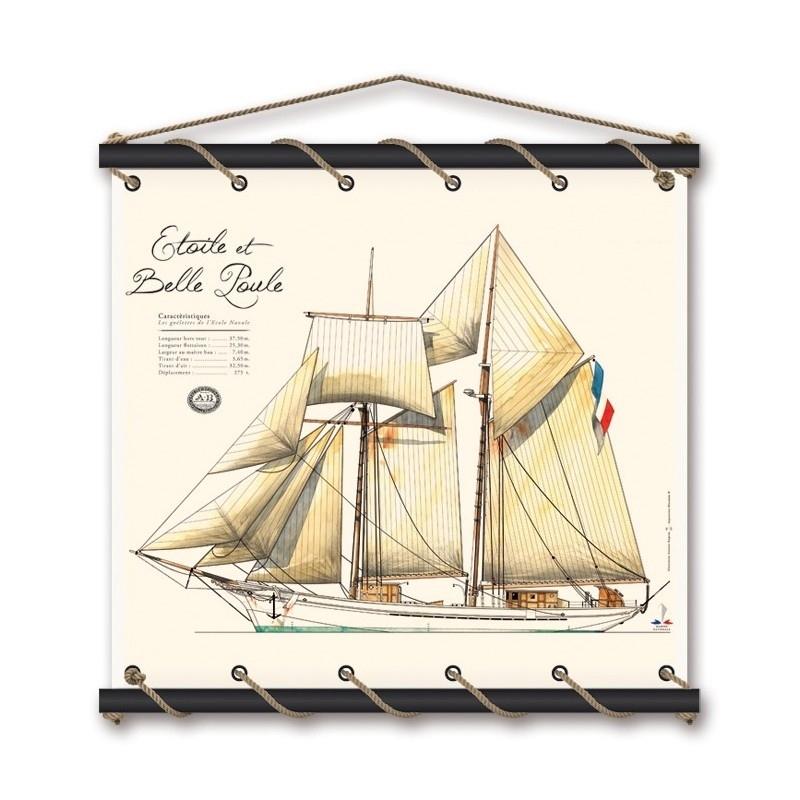 Etoile et Belle Poule watercolor