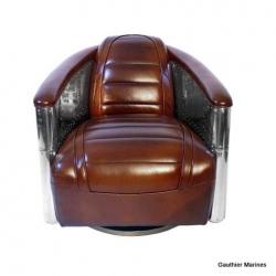 fauteuil DC3 tournant cuir