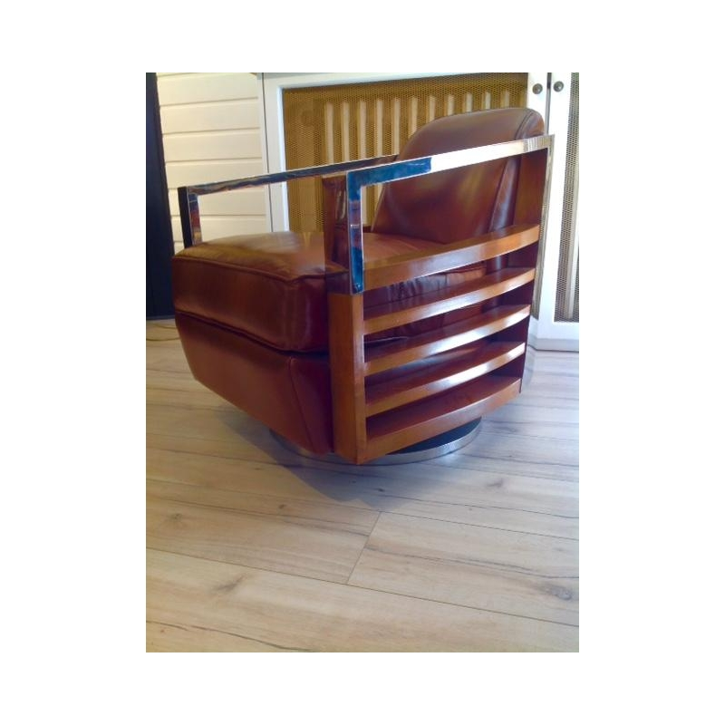 Fauteuil Madisson cuir vintage