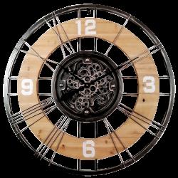 Horloge à engrenage bois/métal
