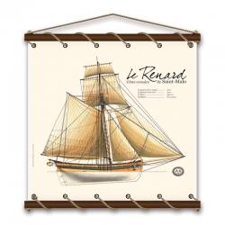 Le Renard (75X75 - Aquarelle)