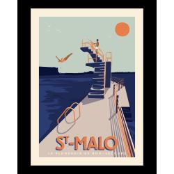 Affiche Le plongeoir Saint Malo