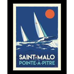 Affiche Saint Malo Pointe à Pitre