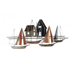 Sculpture Voiliers/Cabanes de Pêcheurs