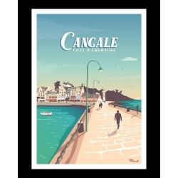 Affiche de Cancale par Marcel