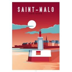 Affichiste Saint-Malo 50x70