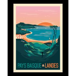 Affiche Pays Basque et Landes