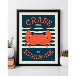 Affiche Crabe de Bretagne