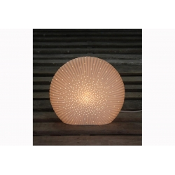 Lampe porcelaine disque