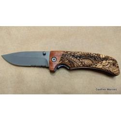 Couteau Gravé Maori