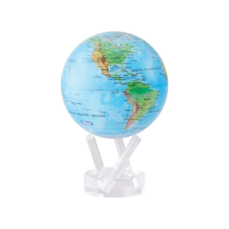 Globe MOVA (PM - Blue Relief Map)