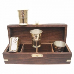 Mesures de Rhum Coffret (PM - Laiton - Set de 4)