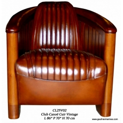 Armchair Canoe (Leather - brown)