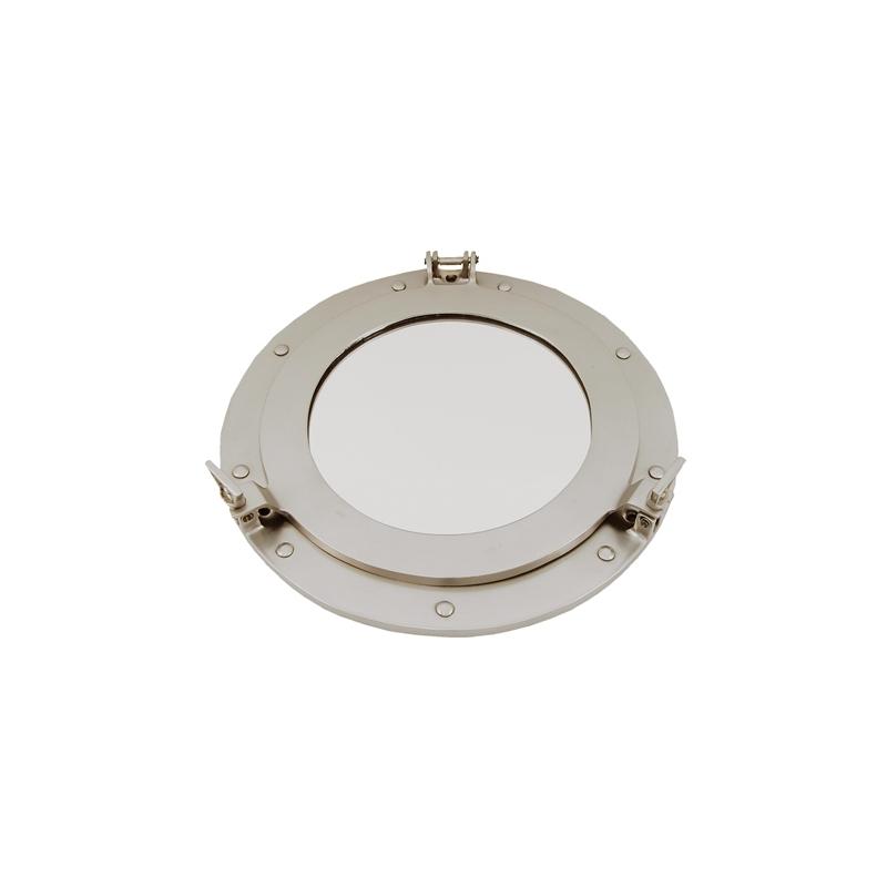 Miroir hublot ouvrant (30 cm - argent)