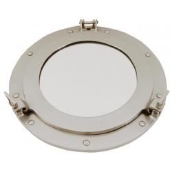 Miroir hublot ouvrant (51 cm - argent)